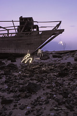 Alien Invasion 2 (WAF(ofo)A) Tags: light sunset lightpainting love painting alien kuwait dhow q8