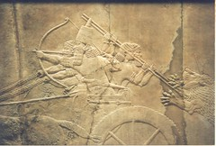 gypsum relief: Ashurbanipal lion hunting (Neo-Assyrian empire) (sftrajan) Tags: london archaeology museum ancient frieze relief londres museo britishmuseum gypsum londra mesopotamia lionhunt  ashurbanipal  neoassyrian ancientneareast  departmentofthemiddleeast