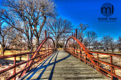 HDR Bridge Chanute, KS (Mandi Lever) Tags: historic kansas hdr oldbridge chanute