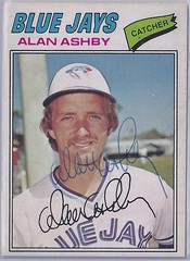 1977 O-Pee-Chee - Alan Ashby #148 (different photo than 1977 Topps) - Autographed Baseball Card (WhiteRockPier) Tags: baseball card signed autographed torontobluejays opc opeechee