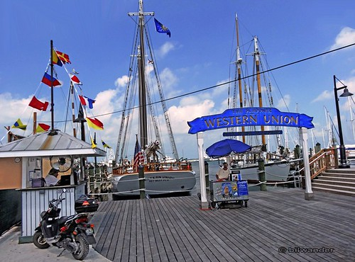the dock of western union scooner at key west harbor