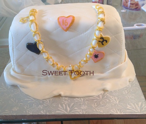 Chanel Inspired Handbag Cake