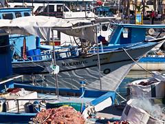 Mediteraner Hafen / Mediterranean Harbour (schreibtnix off for a while) Tags: travelling reflections reisen europa europe harbour structures cyprus colourful hafen bunt zypern spiegelungen lakki strukturen fischerboote fishingvessels olympuse5 paphosdistrict schreibtnix