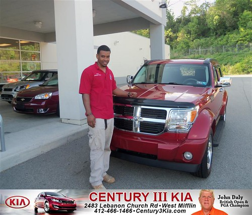 Century 3 Kia would like to say Congratulations to Walton Burton Jr on the 2007 Dodge Nitro