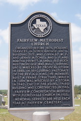 Fairview Methodist Church (ednurseathkh) Tags: texas wilsoncounty texashistoricalmarker