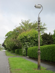 Gas Column with Electric Light (Lady Wulfrun) Tags: streetlight derbyshire thorn streetlighting castironcolumn acford borrowash beta5 conversionbox