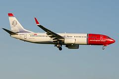 Boeing 737, LN-DYG, Norwegian Air Shuttle. (PRA Images) Tags: man boeing manchesterairport boeing737 egcc norwegianairshuttle lndyg