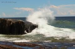 Wave Watching (Connie KCMO) Tags: lakesuperior minnesota grandmarais northshore artistpoint
