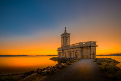 Song of the Surf (unciepaul) Tags: normanton church saturday eve july calm sunset watchoutformidges lightroom only tripod nikond800 1635mm allalone blue beautiful colours contrast detail evening glow gentle landscape light night out post rocks summer tranquil uk