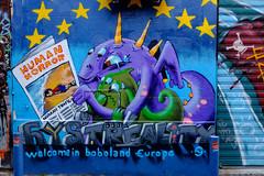 Streets of Marseilles - Galactic news (KristHelheim) Tags: streetart france streets art graffiti marseille europe refugees tag alien velvia fujifilm neighbourhood marseilles quartier laplaine socialcritic fujifilmx100t fujix100t