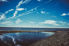 (Ailís Ní hÉgeartaigh) Tags: world ireland summer sky cloud seascape beach water beautiful clouds zeiss landscape outside sand europe outdoor earth sony sandy bluesky pebbles beaches blueskies za wexford a7 2016