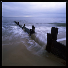 Water and Wood (LunaliteSBC) Tags: beach fuji bronica velvia film fujivelvia50 ishootfilm filmphotographyproject