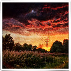 Day 237 of 366 - Storm Clouds! (editsbyjon) Tags: coventry phototoaster skylabapp mextures snapseed vividhdr iphoneography iphone365 iphone surreal clouds sky sunset field landscape serene outdoor photoborder