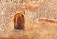 Niche in Cemetery Wall (studioferullo) Tags: niche wall cemetery adobe architecture mission chapel church sanctuary building old historic abandoned decay design light bright sunny sunlight park monument nationalpark nationalmonument outdoor outdoors outside beauty pretty serene texture rural country desert arch pattern colorful brown ochre gold tumacacori tumaccori arizona abstract minimalism