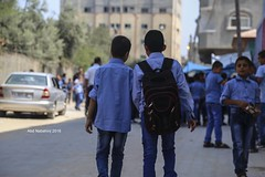 Palestinian children in the first day of schools in Gaza (TeamPalestina) Tags: freepalestine palestinian sunrise sweet beautiful heritage live photo photographer comfort natural  palestine nice am amazing innocent occupation landscape landscapes reflection blockade hope canon nikon sunset