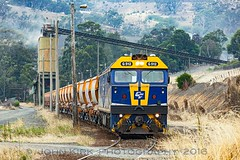 New kid on the block Apex (Beyond Trains) Tags: train cfcla g512 hansonquarry quarry locomotive emd stonetrain victoria kilmoreeast loader loadout conveyor day hoppers wagon blocktrain stone apex kilmore