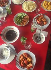 Bienvenidos (rosierosanna) Tags: cuba dinner cena tamales beansoup potatocrisps lobster travel