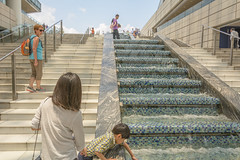 steps (stevefge) Tags: china shanghai people candid family kids kinderen children summer water fountains steps reflectyourworld