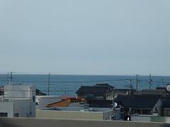 Along the coast (seikinsou) Tags: japan spring omiya kanazawa shinkansen jr railway train travel hakutaka windowseat coast sea cable