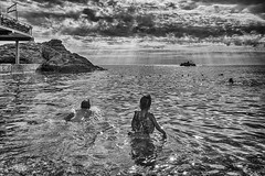 Crimea. Utyos. Beach. Tima & Amira / . . .    (r_a_d_i_c_h) Tags: port  amira    russia ru russian girl   boy    tima timur utyos beach