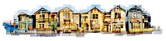 Six-Sisters Napier (Tehau) Tags: colour outdoor building historical joiner photomontage collage new zealand napier houses