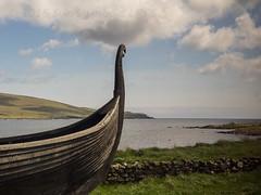 Viking times remembered (Nanooki ) Tags: scottishisles haroldswick scotland unitedkingdom gb unst longboat viking fetlar shetlandislands