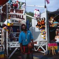 Basketball (ErikEdmund) Tags: yashica mat 124 g erie county fair buffalo ny wny new york slide film 120 6x6 fuji provia 100f analog filmisnotdead filmsnotdead tlr medium format