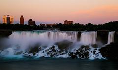 Niagara Falls (Tiffany XY) Tags: united states canada new york ontario niagara falls american water silky sunset long exposure