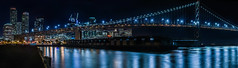 bay bridge piers (pbo31) Tags: sanfrancisco california night nikon d810 september 2016 summer boury pbo31 dark black color panoramic large stitched panorama pier30 embarcadero southbeach baybridge 80 bridge rinconhill city urban skyline bay reflection blue