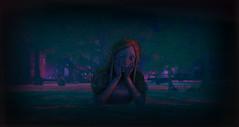 misery (Jenna Jay ( jjdomzarjs )) Tags: secondlife sl slphotography slart crying girl lomo lomography nakedrocks swamp stone dark lady lake jjdomzarjs nakedsailingclub
