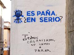 Stencil. Arte Urbano - 2016/01 (Madrid) (Juan Alcor) Tags: madrid stencil arteurbano falange anarquismo feminista