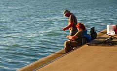 Michigan City Harbor Fishing Off the Pier 9-12-2016 8617 (www.cemillerphotography.com) Tags: lakefront lakemichigan sundown dusk nightfall washingtonpark recreation megawatt energy emissions indiana factory smokestack smoke