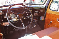 20th Annual La Verne Cool Cruise (USautos98) Tags: 1949 dodge powerwagon woodie woody firetruck interior
