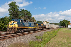 Racing Racks (sullivan1985) Tags: newyork ny mohawk csx csxt csxtransportation ge generalelectric ac4400cw c408w fonda q279 automax autorack westbound freight freighttrain csxt30 csxt7922 broadway train railroad railway