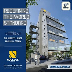 Focusing on the everyday, Nulceus Verdant strives to create a work design that would connect people to one another that could take your business experience to a level that is indescribable.  Book your Office Space now,  Visit us on www.nucleusproperties.i (nucleusproperties) Tags: life beautiful officespace kochi elegant style kerala realestate lifestyle india commercial luxury comfort nature architecture interior gorgeous design elegance environment beauty building exquisite view office city construction business atmosphere living