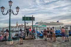 New Gondola Service - 3000 seats (JLAerts) Tags: cruiseship gondole gondola venice venezia venetie