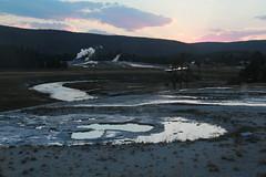 Sunset at the Upper Basin (RPahre) Tags: yellowstone yellowstonenationalpark uppergeyserbasin upperbasin sunset