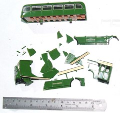 Buyer beware! (island traction) Tags: model bus buses 176 oo 4mm1ft diecast die cast efe ooc corgi britbus mazak zamak zinc pest fatigue corrosion