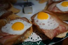 Protein (Let Ideas Compete) Tags: spain sansebastian euskati pintxo pintxos pincho pinchos tapas basquecountry donostia food cuisine pintxosbar basque sansebastin egg eggs ham jamon euskadi