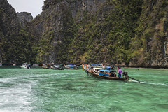 The Long Tail Boat at James Bond Island (Anoop Negi) Tags: thailand long tail boat water james bond island travel khao phing kan  ko  scaramanga the man with golden gun anoop negi ezee123 photo photography