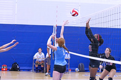 IMG_3166 (SJH Foto) Tags: girls volleyball high school stroudsburg pa pennsylvania team tween teen teenager varsity net battle spike block action shot jump midair