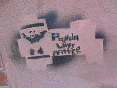 Panda Lives Matter, Troy, NY (Robby Virus) Tags: troy newyork state ny panda lives matter stencil street art paint guns handguns