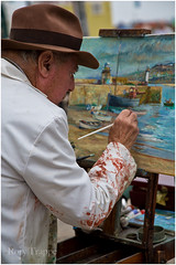 Artist at St Ives (Rory Trappe) Tags: stives cornwall artist painting harbour kernow