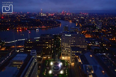 Night View from Level 39, One Canada Sq, Canary Wharf (VeRoNiK@ GR) Tags: london uk england night time level39 canarywharf onecanadasquare photography