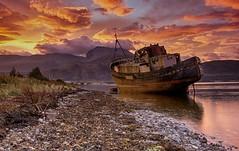 Private Yacht (Geordie1970) Tags: lochlinnhe corpach bennevis lochaber sunrise hdr abandoned scotland scottishhighlands scottishlandscape scottishloch nikond7100 nikon1685mm geordie1970