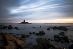 L'île d'Or (fredMin) Tags: le dramont long exposure sunset var island tower rocks mediterranean sea france fujifilm xt1 travel fujinon 1655