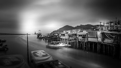 Tai-O Harbour (Gerald Ow) Tags: tai o stilt houses hongkong back white bw canon eos 5dmkii 5dmk2 big stopper geraldow lee filter long exposure   monochrome black taio