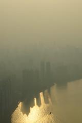 (mo.91) Tags: sony a33 guangzhou china canton tower pearl river smog sunset dusk zhujiang urban city skyline skyscrapers minolta