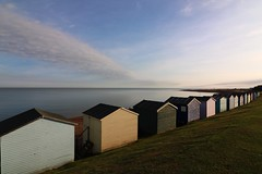Morning beach huts (NovemberAlex) Tags: colour seaside whitstable tankerton kent water beachhuts