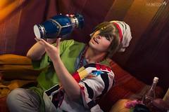 3 (haine.otomiya) Tags: free makoto cosplay cosplayer guy male arabian arabic anime manga tent warm drinking blue porcelain indoor shooting setting
